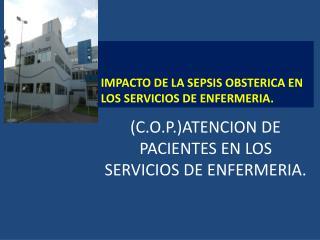 (C.O.P.)ATENCION DE PACIENTES EN LOS SERVICIOS DE ENFERMERIA.