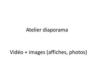 Atelier diaporama