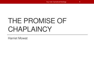 The promise of chaplaincy
