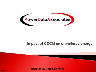 Impact of CDCM on unmetered energy