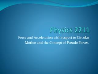 Physics  2211
