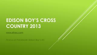 Edison boy's cross country 2013