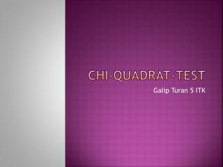 CHI-Quadrat-Test