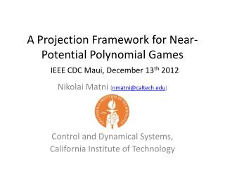 A Projection Framework for Near-Potential Polynomial Games