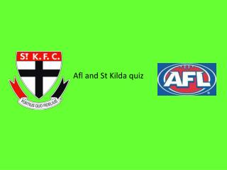 Afl and St Kilda quiz