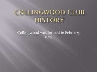 Collingwood club history