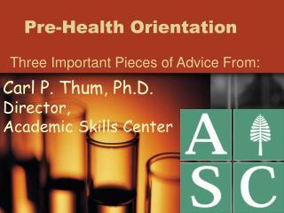 Pre-Health Orientation