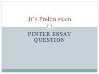 JC2 Prelim exam