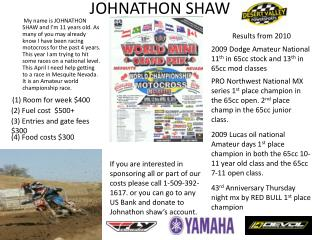 JOHNATHON SHAW
