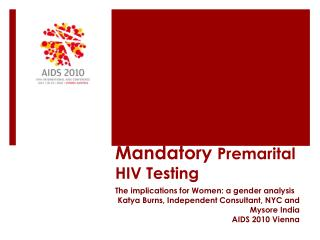 employment and mandatory aids testing Mandatory aids testing-a fourth amendment analysis: glover v eastern nebraska community office of retarda tion introduction acquired immune deficiency syndrome (aids) is perhaps the.