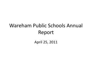 Wareham Public Schools Annual Report
