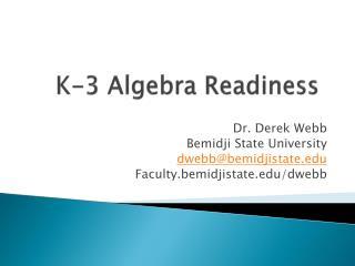 K-3 Algebra Readiness