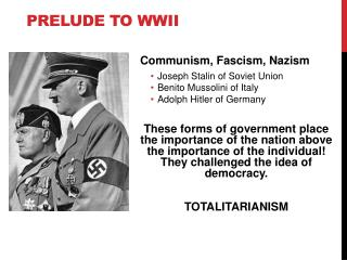 Prelude to WWII