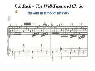 Prelude in D Major BWV 850