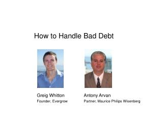 How to Handle Bad Debt