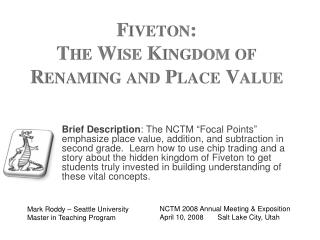 Fiveton : The Wise Kingdom of Renaming and Place Value