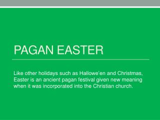 Pagan Easter