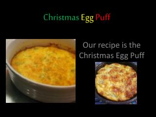 Christmas Egg  Puff