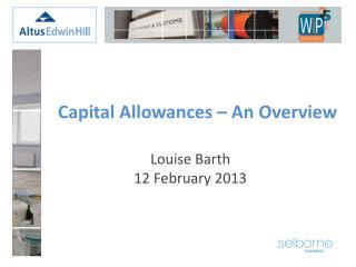 Capital Allowances – An Overview