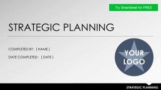 Strategic Plan: Summary Overview
