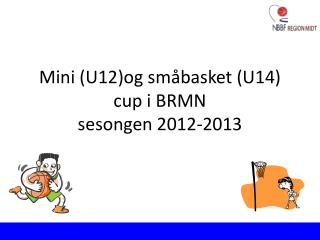 Mini (U12)og småbasket (U14) cup i BRMN  sesongen 2012-2013