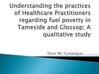 Dave Mc  Conalogue