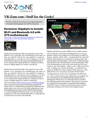 VR-Zone Tech News for the Geeks Nov 2011 Issue