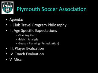 Plymouth Soccer Association