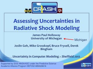 Assessing Uncertainties in  Radiative  Shock Modeling