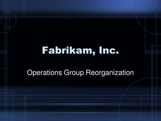 Fabrikam, Inc.