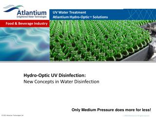 Hydro-Optic UV Disinfection: New Concepts in Water Disinfection