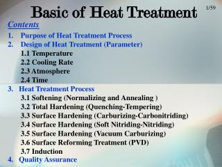 Basic of Heat Treatment