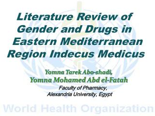 Yomna Tarek Abo-shadi , Yomna  Mohamed  Abd el-Fatah Faculty of Pharmacy,