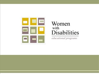 Screening and Diagnosis - Women with Disabilities Educational Programs