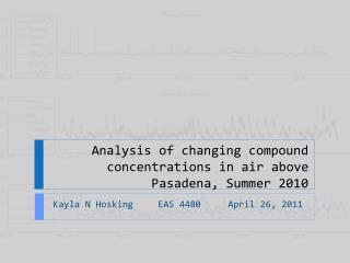 Analysis of changing compound concentrations in air above  Pasadena, Summer 2010