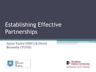 Establishing Effective Partnerships