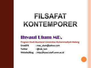 Ihyaul Ulum MD. Program Studi Akuntansi Universitas Muhammadiyah Malang