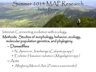 Summer  2014  MAP  Research  Jackie Brown