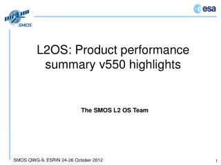 L2OS: Product performance summary v550 highlights