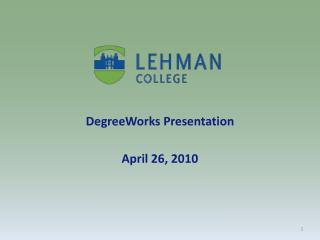 DegreeWorks  Presentation