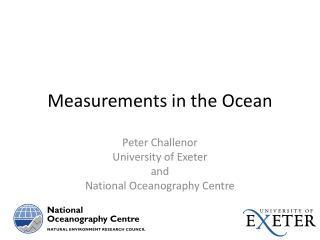 Measurements in the Ocean