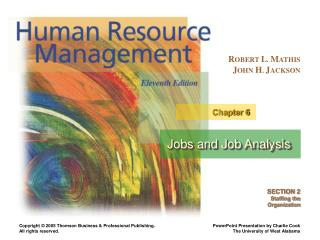Jobs and Job Analysis