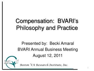 Compensation:  BVARI's Philosophy and Practice