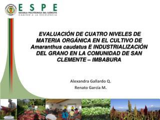 A lexandra  Gallardo Q. Renato García M.