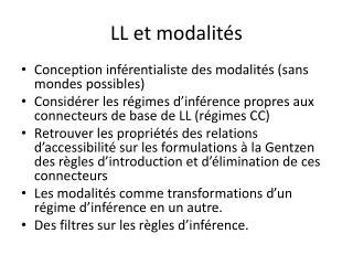 LL et modalités