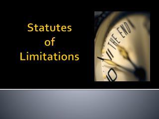 Statutes of Limitations