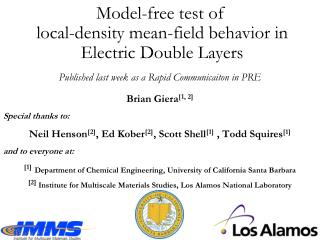 Model-free test of  local-density mean-field behavior  in  Electric Double Layers