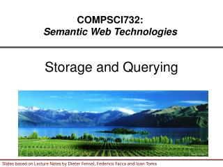 Storage and Querying