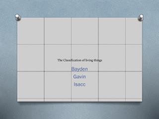 The Classification of living things