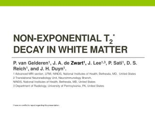 Non -Exponential  T 2 * Decay in  White Matter